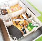 キッズスペース・カフェスペースなどが設置された共用部(完成予想図)