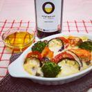 スペイン産オリーブオイルを使用した「鮭と秋野菜のほっこりドリア」