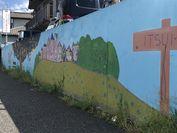 入り口の壁画