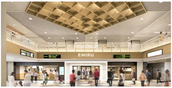阪急高槻市駅 高架下商業施設「ミング・阪急高槻」大規模リニューアル11月20日、「エミル高槻」として生まれ変わります