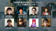 日本選手権2020秋 トップ8入賞選手