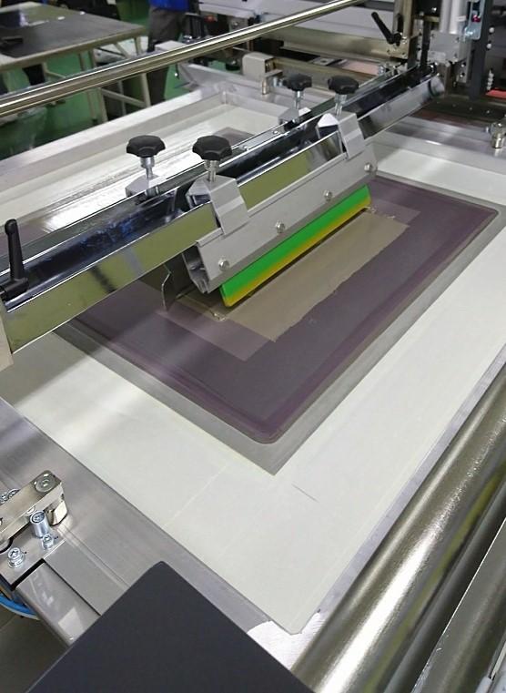 スクリーン印刷の様子