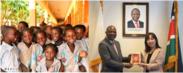 駐日ケニア大使館でもアフリカ支援の品として陳列