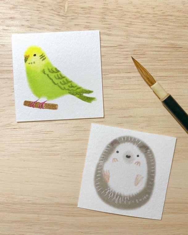輪郭を描かずに色を塗るだけで絵が完成する「もふもふイラスト」オンライン講座を1月30日(土)14:00~16:00に開催!