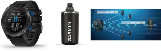 Garmin タンクに設置し、手元で広範囲のタンク圧力モニタリングができる『Descent T1 Transmitter』を1月21日(木)に発売