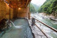源泉掛け流し露天風呂「渓谷の湯」