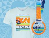 ハーフマラソン・ハパルア参加記念Tシャツ・完走メダル