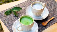 美味しい抹茶・ほうじ茶カプチーノになります