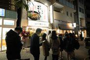東陽町店オープン時の行列