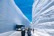 高さ20mにも迫る雪の大谷