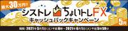 シストレ『ちょいトレFX』キャッシュバックキャンペーン