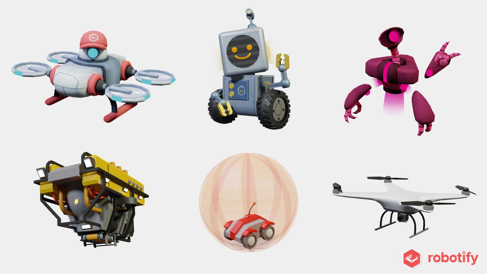 自由に動かせるバーチャルドローン、潜水艦、火星探査機などさまざまなパターンのコマンドから選択可能!