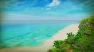 ゲームで再現された新島 羽伏浦海岸
