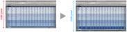 フルHD(左)とWUXGA(右)の比較イメージ