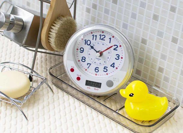 毎日忙しいパパママへ 時計の読み方をお風呂で学べる知育時計「MAG 生活防水知育時計 お風呂deよ~める」を開発 ~お子様に教える際のコツがわかるアドバイスシート付~