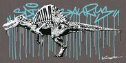 ストリートアーティストYOICHIRO氏のコラボ作品「スピノサウルス」
