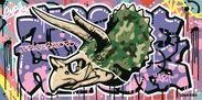ストリートアーティストYOICHIRO氏のコラボ作品  「トリケラトプス」