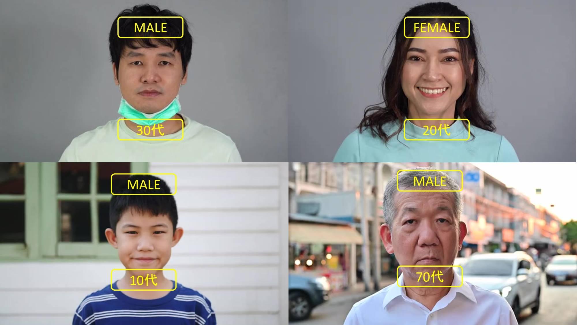 年齢性別 マスク無