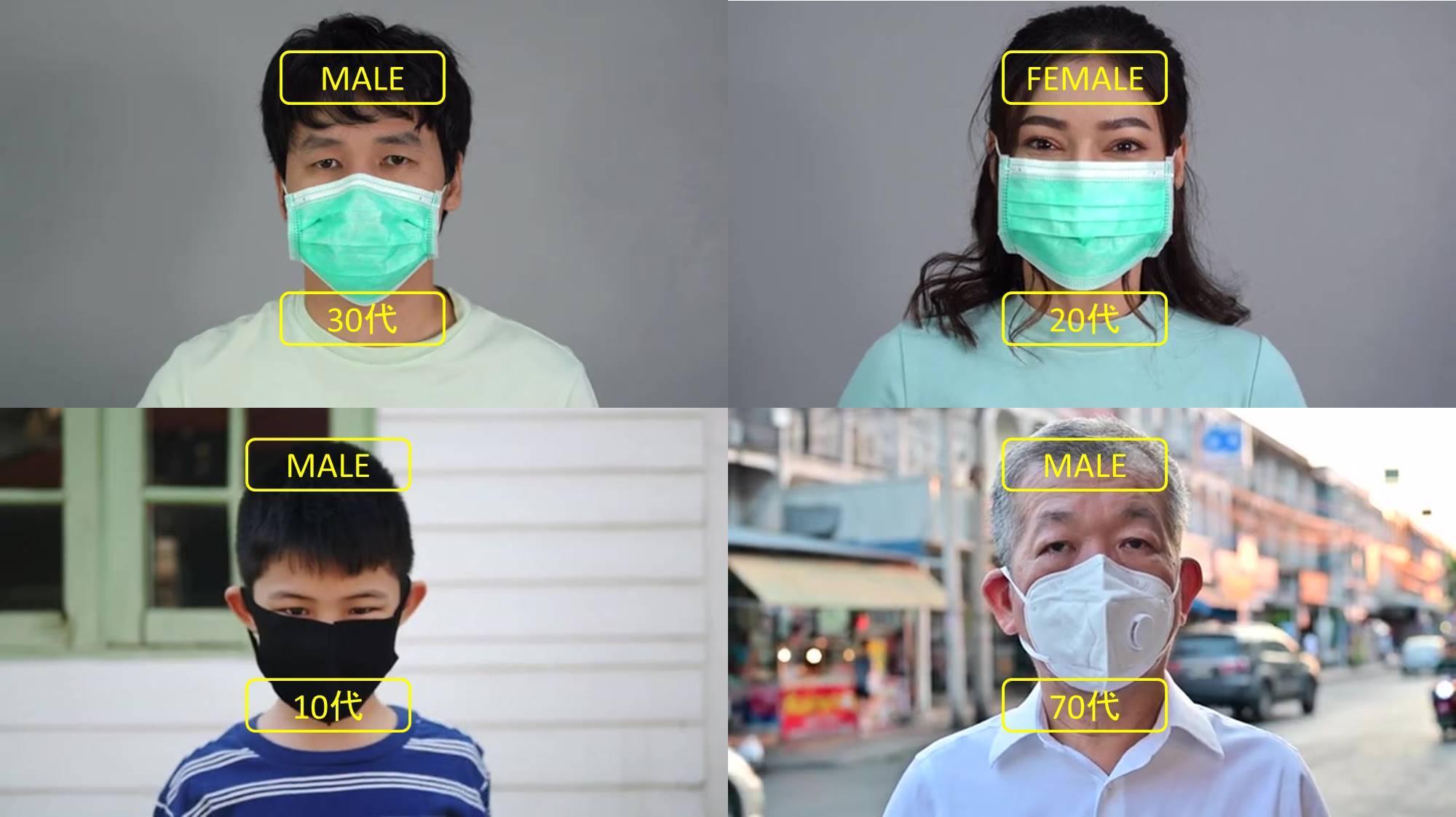 年齢性別 マスク有