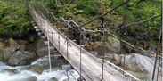 老朽化した吊り橋