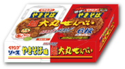 ペヤングやきそば味 超大丸せんべい ハーフ&ハーフ箱(2)