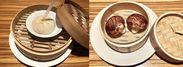 左:ストロー小籠包「海王湯包」と右:フェイク椎茸「椎茸まんじゅう」