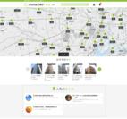 スクリーンに広がるマップの駅名をクリックするだけで物件情報一覧が表示されます
