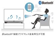 Bluetooth(R)接続でワイヤレス音楽再生が可能