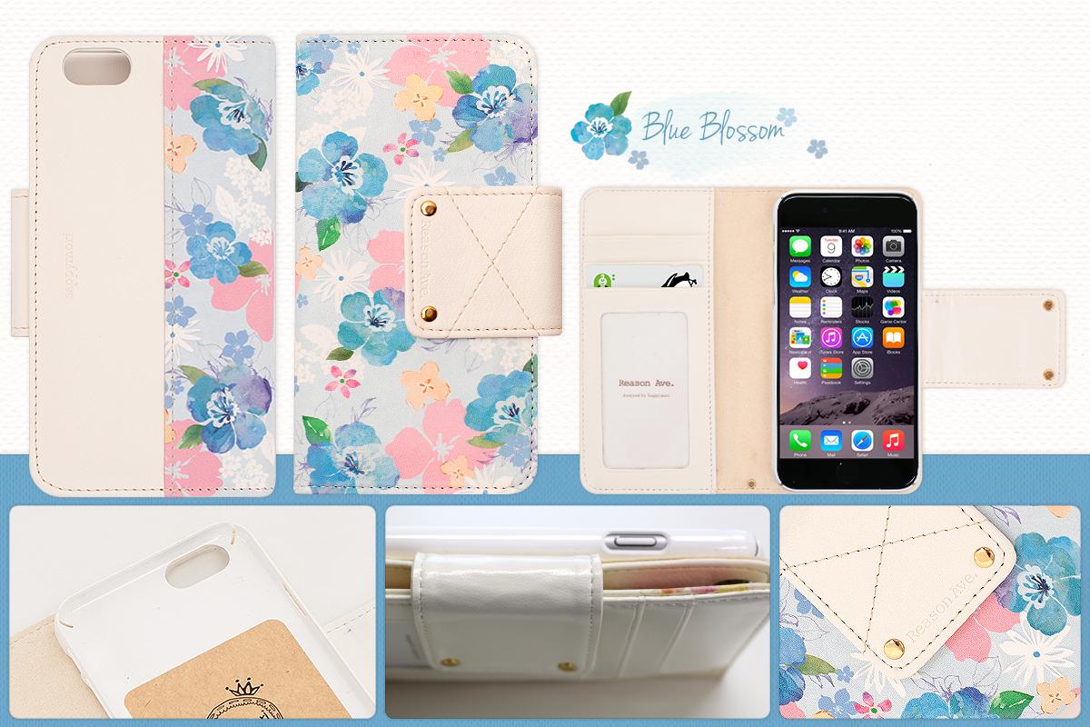 Happymori iPhone6ケース Reason ave. Flying Blossom Diary