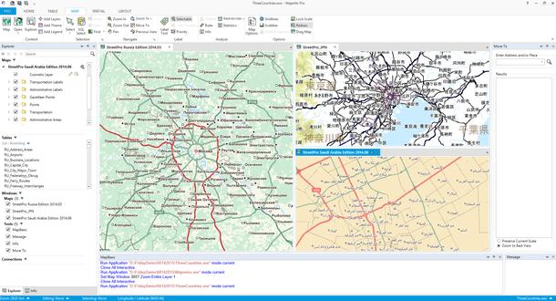 画像1:多言語マップの同時表示