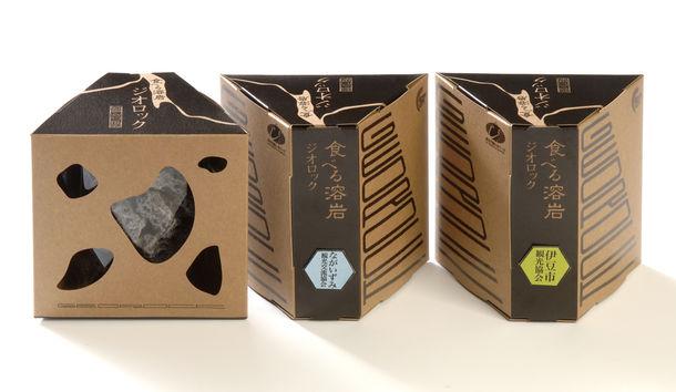 「食べる溶岩 ジオロック」パッケージ