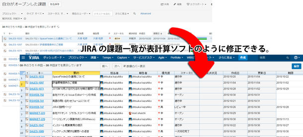 Issue Editor for JIRA(Excel-like editor) イメージ