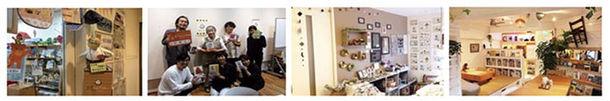 (写真左より)クリエートにしのみや/スタジモにしのみや まちライブラリー 読書会/西宮アートサンク/Mai my shop